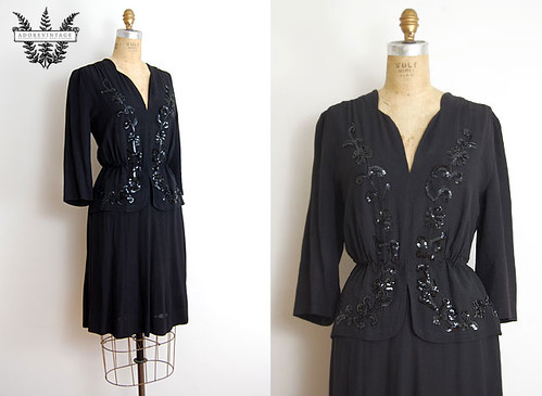 Vintage 1940s Dress from Adorevintage.com