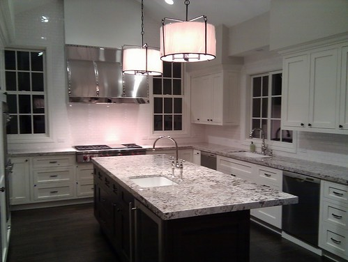backsplash tile for kitchen white cabs espresso island bianco antico all done 4275