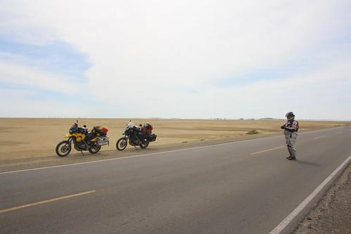 Flat, empty, desert.