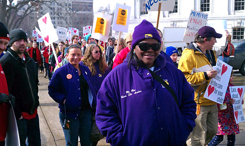 SEIU Healthcare WI Members at Madison Protests