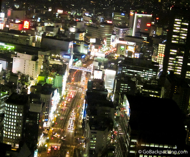 View of Shinjuku from New York Grill and Bar