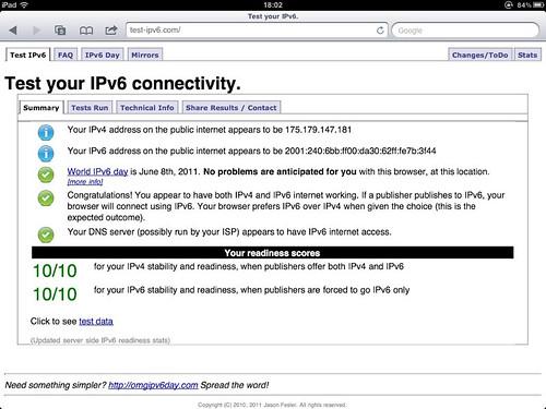 #Gadget1 dorayaki 会場でのWifi IPv6 状況