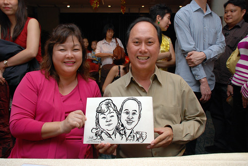 caricature live sketching for OCBC Securities - 9c