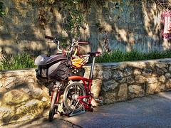 "My ""B"" (Vicky Tsavdaridou) Tags: park travel green nature bike bicycle canon garden geotagged photography cycling countryside photo europe day hellas places greece cycle hdr folding foldingbike brompton topaz hellenic photomatix"