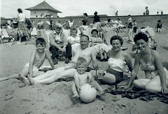 Image titled McCreath family on beach 1959