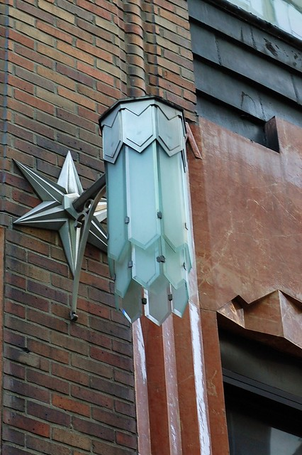 Old General Electric building, detail of lamp