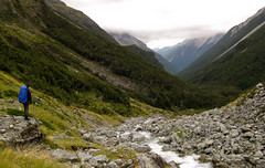 Looking down the valley of waterfalls Photo