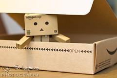 Danbo arrived today! (Inge Schepers) Tags: closeup fun japanese amazon box character cartoon cardboard danbo danboard