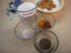 Spices, coconut milk