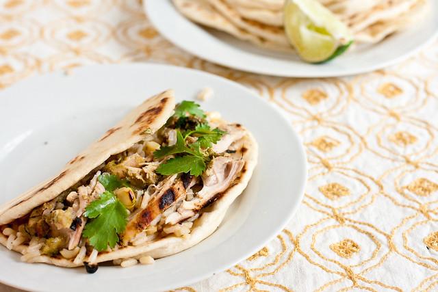 Cilantro Tandoori Chicken Tacos