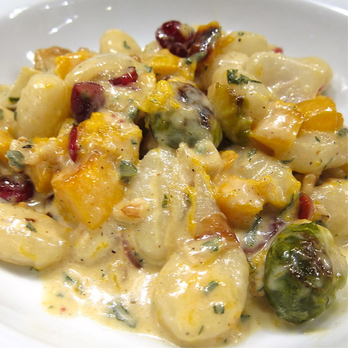 Gnocchi with Brussels Sprout & Butternut Squash