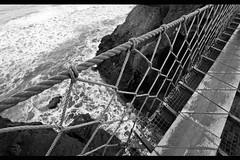 Carrick a rede rope bridge (thomas.borie) Tags: bridge ireland sea 2 bw mer white black canon eos la noir rope nb des ii pont mk2 5d giants mm northern et blanc rede 1740 mk carrick causeway chaussée f4l suspendu géants