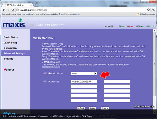 Securing Wireless Network Using Maxis WiFi Modem Step 14