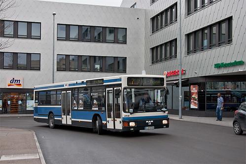 Am Samstag war auch Wagen 4858 auf dem Shuttle unterwegs, wie hier in Giesing.