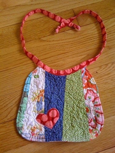 Quilted bib from Melinda