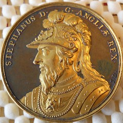 Damascene medal of King Stephen obverse