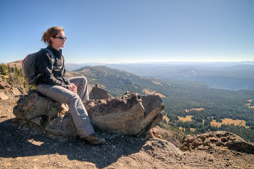Stef on Mount Washburn
