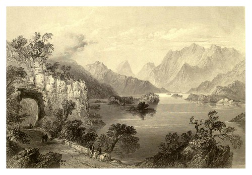 013-Lago superior en Killarney-The scenery and antiquities of Ireland -Vol II-1842-W. H. Bartlett
