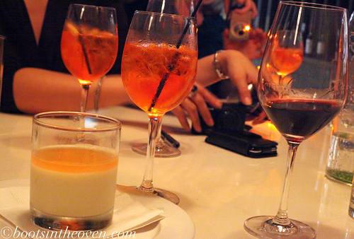 Vanilla Panna Cotta ends the evening
