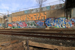 cash4 x smells x caype (Luna Park) Tags: nyc ny newyork graffiti tags roller lunapark smells trackside caype cash4