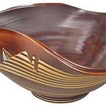 "<b>Tricorn Hat: ""My Grandfather's Hat"" series</b><br/> Dean and Gunnar (LC ' 86) Schwarz (stoneware, 2003) LFAC#2002:05:39<a href=""http://farm6.static.flickr.com/5252/5490874542_aaaf937a0d_o.jpg"" title=""High res"">∝</a>"