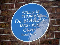 Photo of William Thomas Du Boulay blue plaque