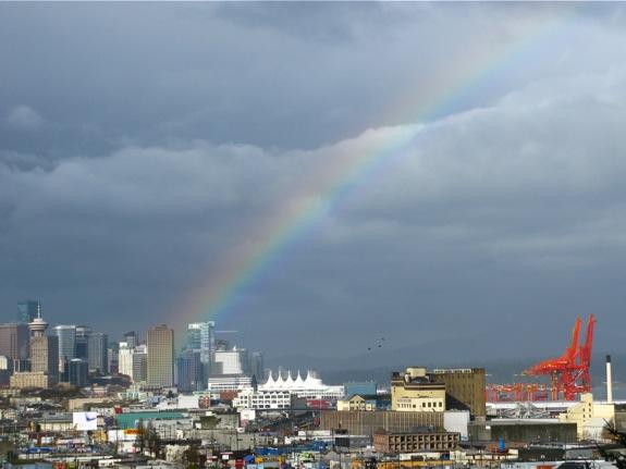 vancouver stormy rainbow