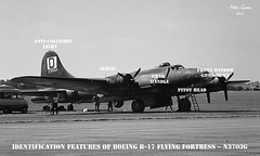 B-17 ~ N3703G ~ Identification ~ 02 (Memphis_Belle_1989) Tags: b17 duxford flyingfortress egsu n3703g 4483546 memphisbellemovie