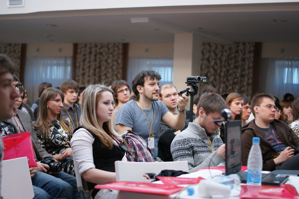 Андрей Шапиро снимает на камеру