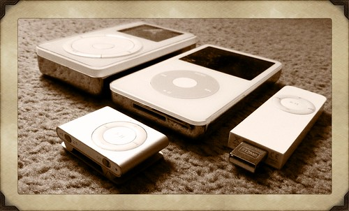 Old iPod collection