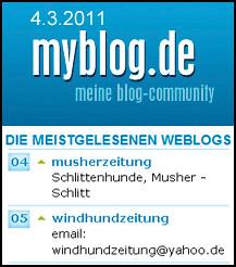 Windhundzeitung.de - Musherzeitung.de: myblog-Hitparade, 04.03.2011
