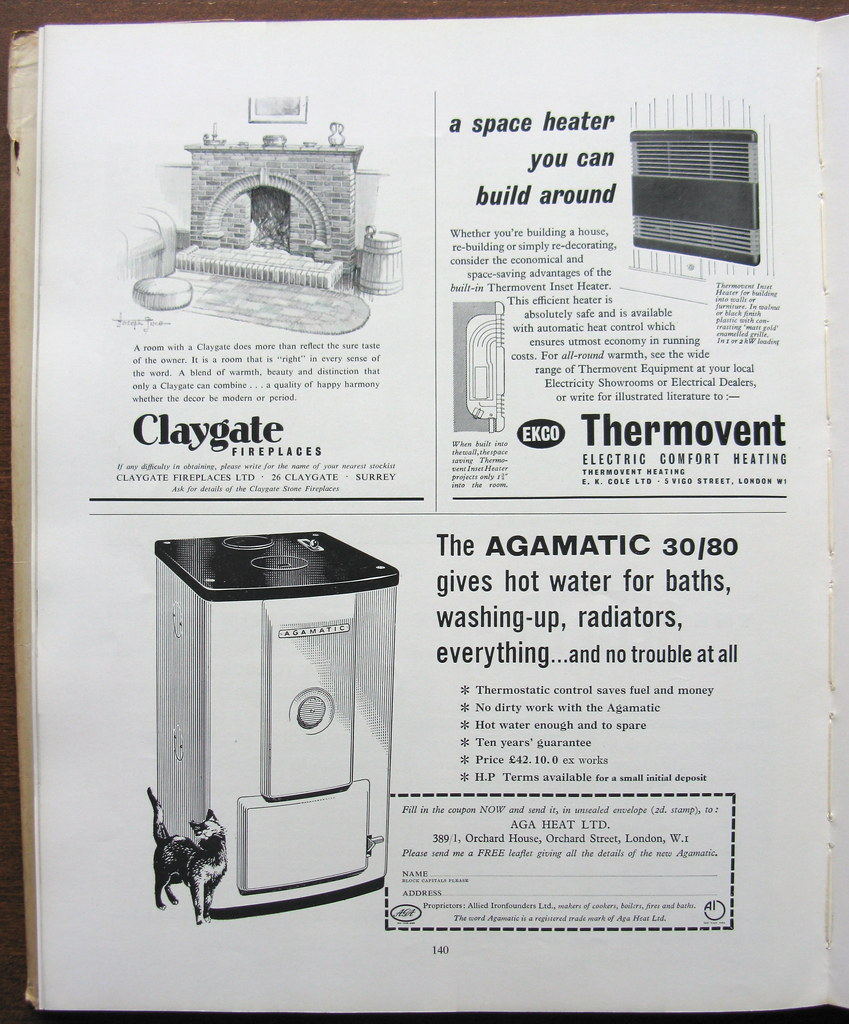 Keeping hot and warm - household appliance adverts - 1957