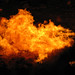 Burning gas at Gateway to Hell - Darvaza, Turkmenistan