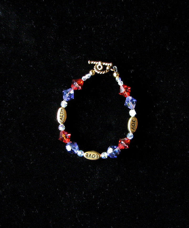 Swarovski crystal and gold bracelet