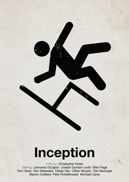 'Inception' pictogram movie poster