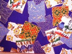 DSC02253 - Japanese hand-made paper (tengds) Tags: flowers blue writing waves papers japanesepaper washi handmadepaper chiyogami yuzenwashi tengds