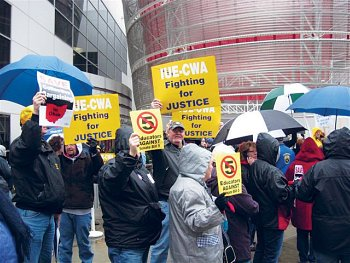 CWA Members rallied with in Dayton, Ohio.
