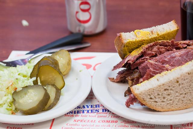 Smoked Meat Sandwich #2, Schwartz' Deli, Montréal, Quebec, 2011