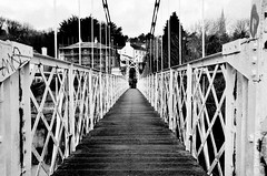 The Shaky Bridge, Cork, Ireland (brendan ) Tags: bridge ireland people blackandwhite bw white black water river words jump cork bridges lee shake hop riverlee tremble whitebridge february2011 livelearnlove rebelsab nikond7000 brendan theshakybridgecorkireland