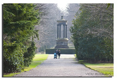 AFTERNOON STROLL (vicki127.) Tags: family trees monument grass cheshire canon300d nationaltrust soe gravel knutsford tattonpark digitalcameraclub youmademyday flickraward ilovemypics march2011 mygearandme adobephotoshopcs5 ringofexcellence vickiburrows vicki127