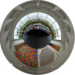 Planet Hirshhorn 4A (jankor) Tags: panorama art museum washingtondc smithsonian washington view si 360 planet vista hirshhorn stitched 360 themall 360degree hirshhornmuseum littleplanet 360grad siedu planetepanoramique
