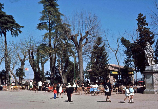 Parque de la Vega en Toledo hacia 1967. Fotografía de John Fyfe