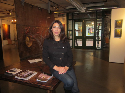 The Director of Artagallery in Toronto's historic distillery district home to beautiful contemporary art work