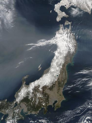 [フリー画像] 自然・風景, 衛星画像, 日本, 201103152300