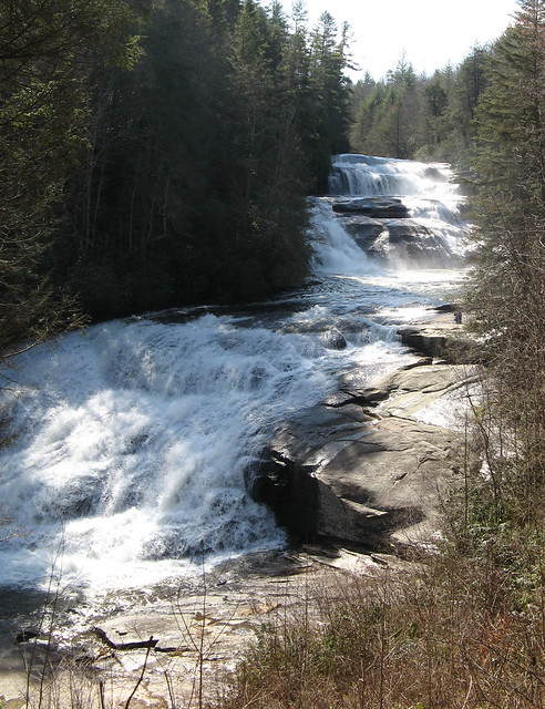Three sections of Triple Falls