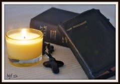 Religion (BGDL) Tags: nikon candle cross religion bible picnik d80 ourdailychallenge