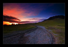pink (Matt Kawashima) Tags: pink sunset sky cloud color colors grass rock clouds landscape rocks purple hike pebble trail bishops sanluisobispo breen 3finalstomorrowandiamsickwoohoo
