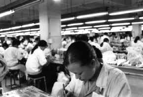 Shoe factory in China