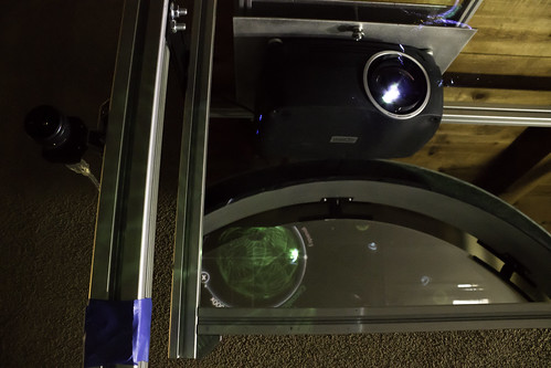 Mirror, Projector and Camera for the 7 Foot Multitouch Wall