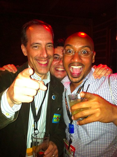 Steve Garfield. Adam Hirsch, Joselin Mane at Mashable SXSW 2011 Party